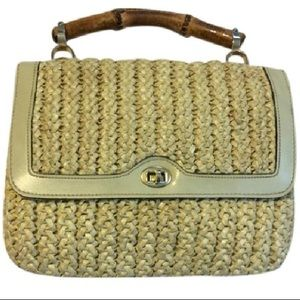 Meyers Vintage Woven Straw Mini Handbag